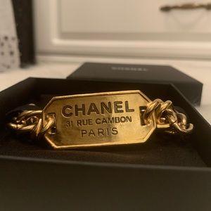 Chanel Bracelet Metal Golden Tag 20C new AB3072